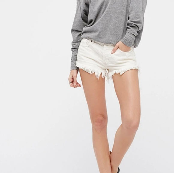 Free People Pants - Free People white denim shorts